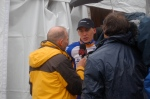 Robert Gesink getting interviewed by Bob Roll.
