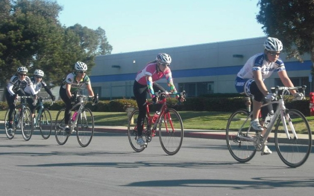 Nancy Vargas finished 3rd in the women's C crit at UC Santa Cruz.