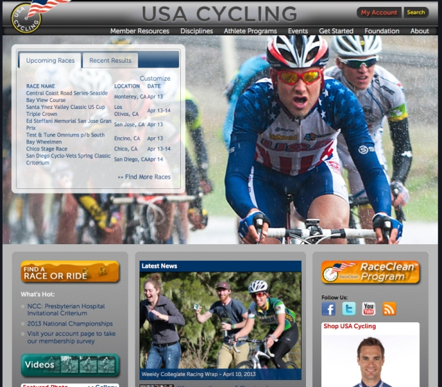 usa cycling front page