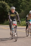 HSU cycling alum Evan Gibbs and racer Nancy Vargas. Photo by Jason Barnes.