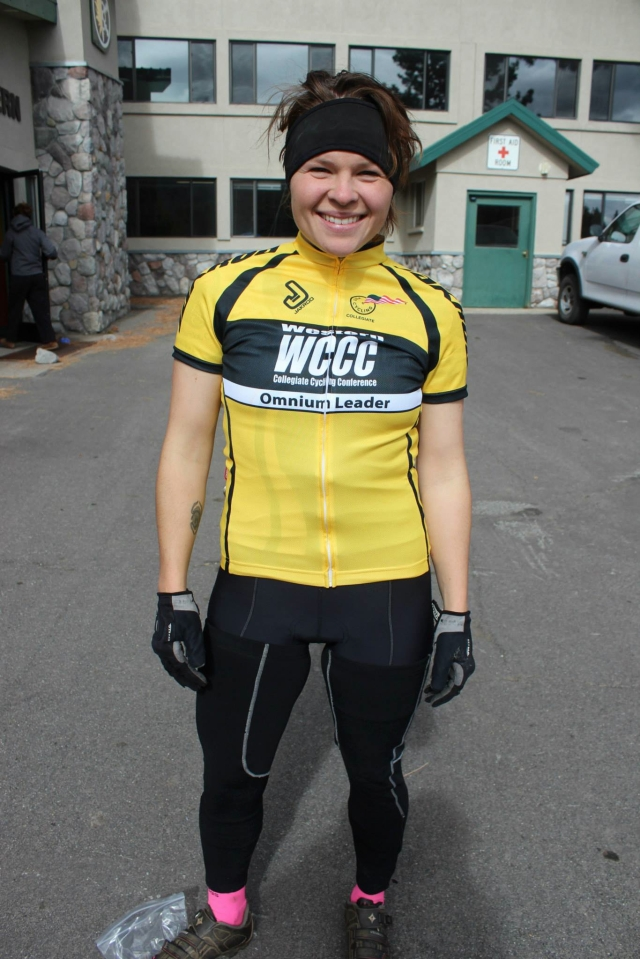 Katelyn Hill yellow jersey