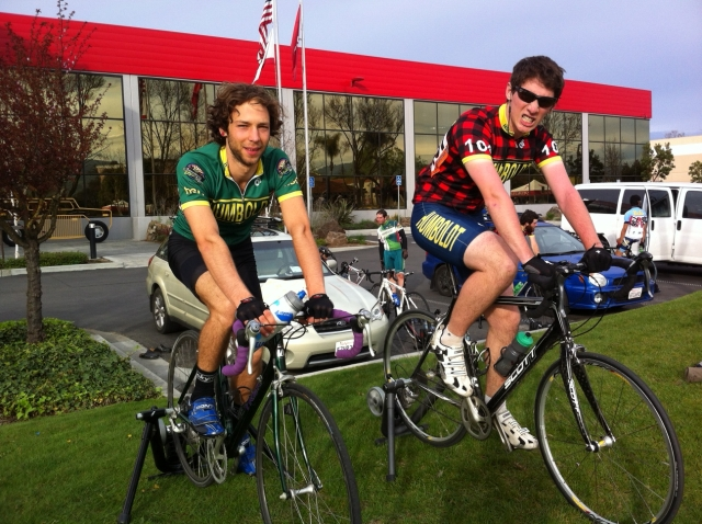 Gavin and Ryan at Stanford Crit. Photo by Vicky Sama.