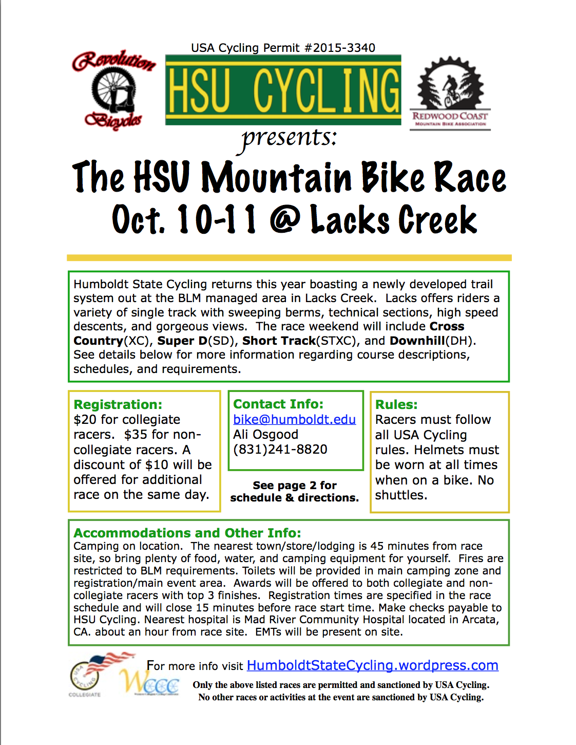 Humboldt State Cyclings Home Race Humboldt State Cycling